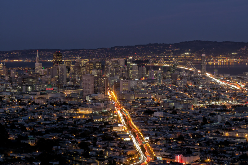 San Francisco from Twin Peaks at Twilight