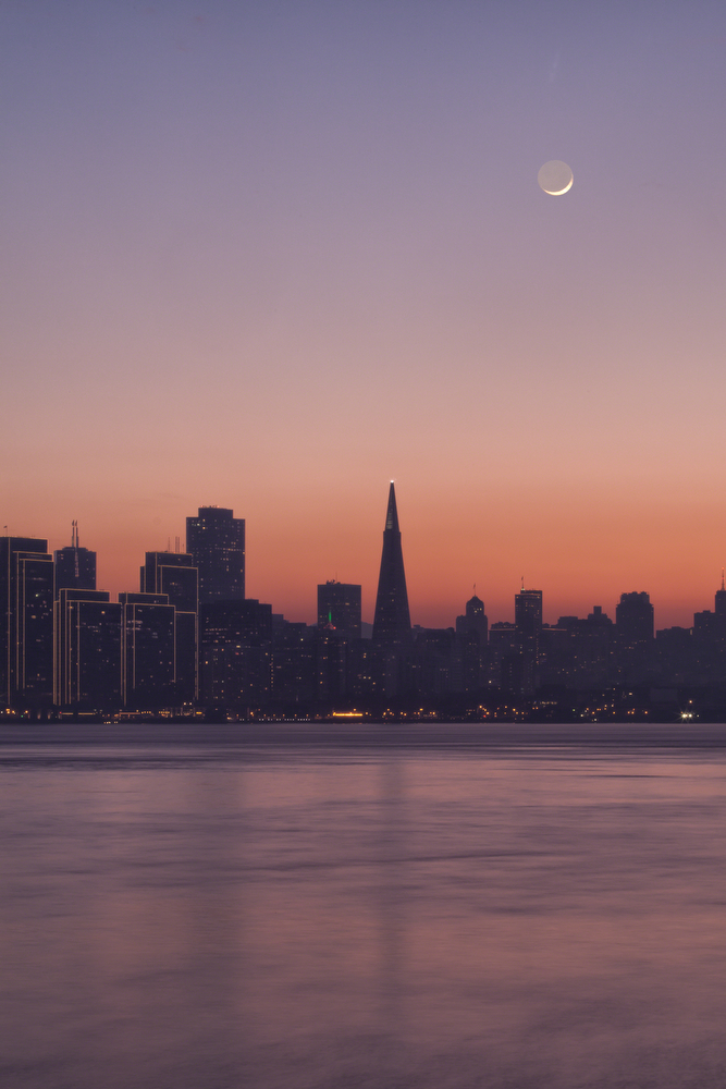 Transamerica Building at Sunset